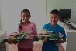 Steven and Evelyn Videa Gonzales. Both AGB Scholarship recipients in 2014 and possibly in 2015. New school supplies bought with prior donations. They are siblings.