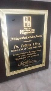 zzzzzDr. Hina Fatima Award