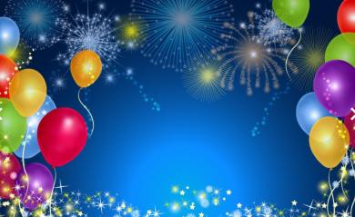 Celebration balloons.