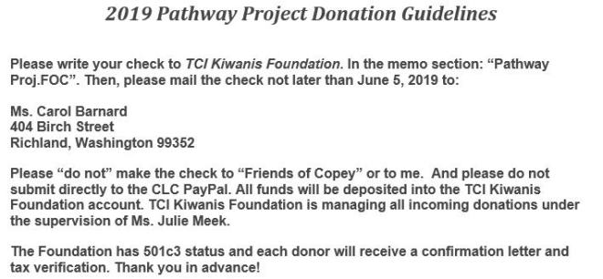 Donation Guidelines